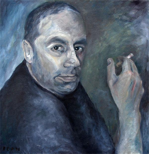 Herr Biehler mit Zigarette